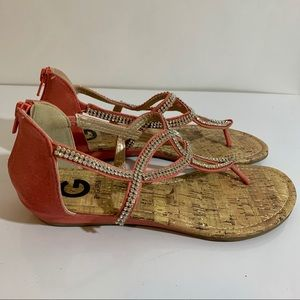G by Guess Rhinestone Sandals Size 7.5M